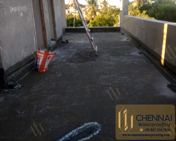 Building Terrace Waterproofing - Terrace Mother Roof Chemical Waterproofing, Residence, choolaimedu, Chennai