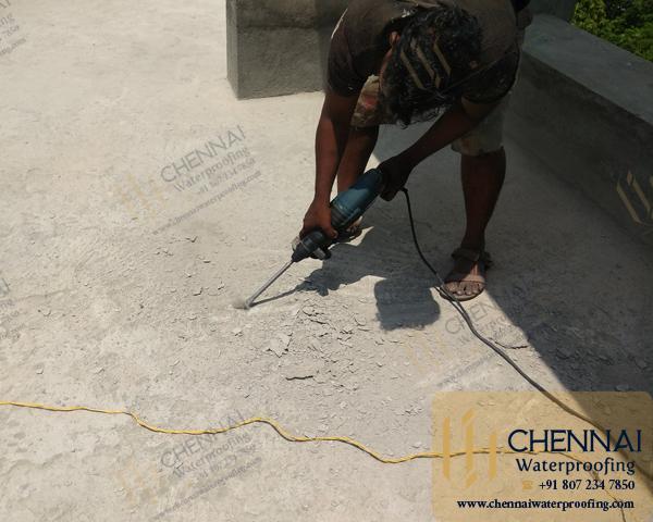 Building Terrace Waterproofing - Terrace Mother Roof Chemical Waterproofing, Residence, Choolaimedu, Chennai