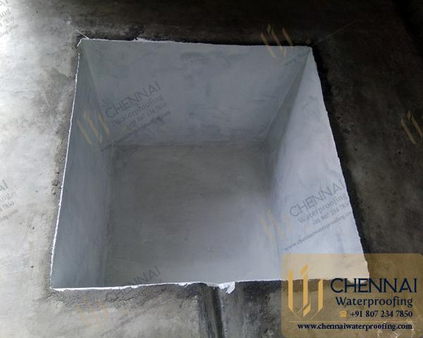 Sump Waterproofing - Epoxy Waterbase Waterproofing, Zetek Castings Private Limited, Oragadam, Sriperumbudur